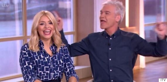 Holly Willoughby Gets A Birthday Surprise From Phillip Schofield On 'This Morning'