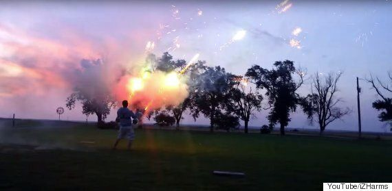 This Wearable Machine Gun That Shoots Fireworks Is Equal Parts Amazing And