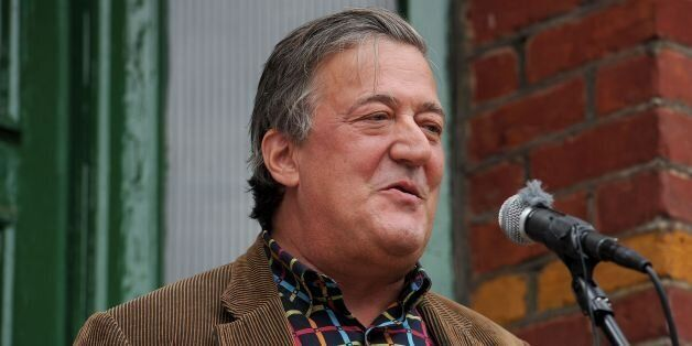 Stephen Fry unveils a Blue Plaque at 103 Woodside in Wimbledon, the former home of Historical novelist...