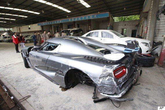 Drunk Man Manages To Pull Off Most Expensive Car Crash In China's