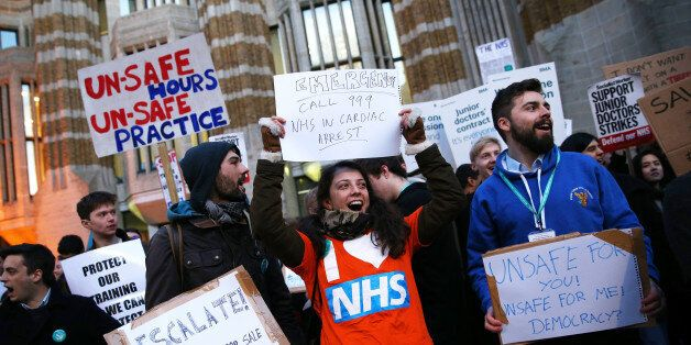 unior doctors protest outside the Department of Health at the Government's intention to impose new contracts...