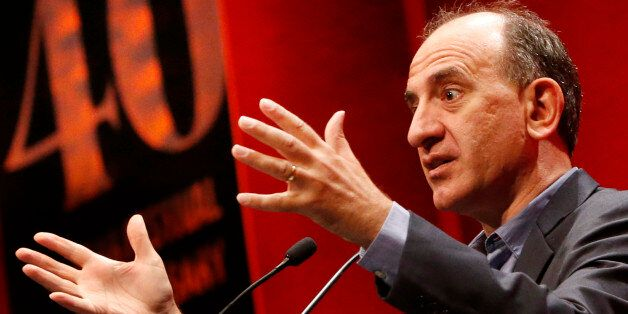Embargoed to 1915 Wednesday August 26Writer and director Armando Iannucci rehearses ahead of delivering...