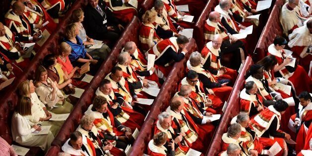 File photo dated 27/05/15 of peers and guests in the House of the Lords, as David Cameron is preparing...