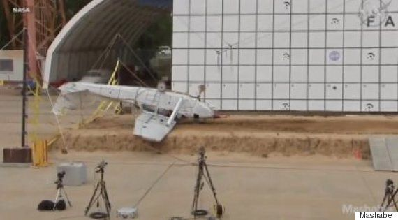 NASA Crash Plane From 100 Feet In The Name Of