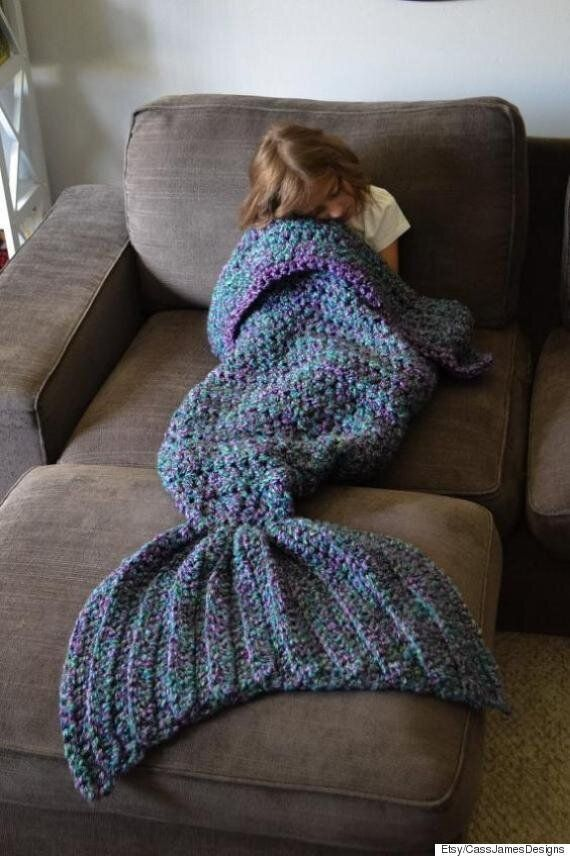 Mermaid Tail Blankets Are For Sale On Etsy... And We Want