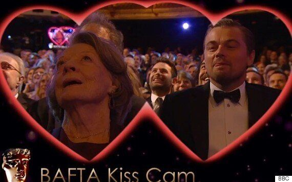 BAFTA 2016: Leonardo DiCaprio Plants Valentine's Day Smacker On Maggie Smith As They're Caught On Kiss