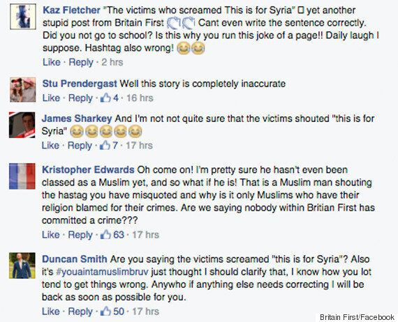 Leytonstone Stabbing: Britain First Issues Response To