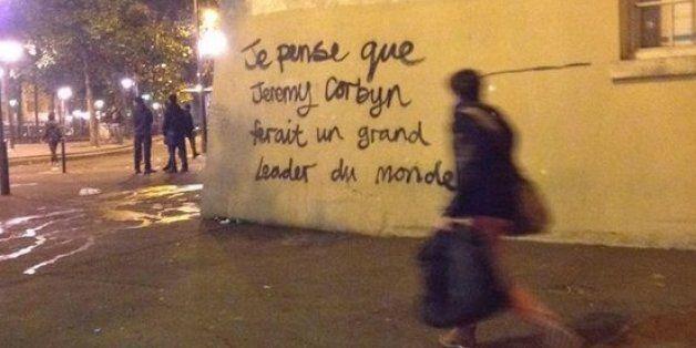 Jeremy Corbyn 'World Leader' Graffiti Spotted In