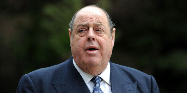 Sir Nicholas Soames MP before the unveiling of a bust of Sir Winston Churchill in the grounds of Blenheim...