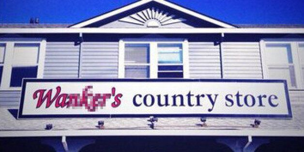 'W*nker's Country Store' Is A Real Coffee Shop With A Really Strange