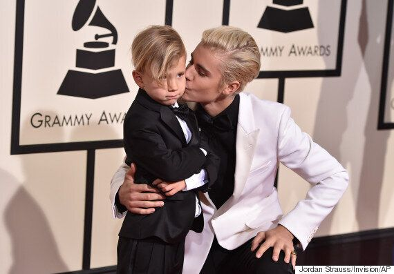 Grammy Awards 2016: Justin Bieber's Brother Jaxon Steals The Show On The Red