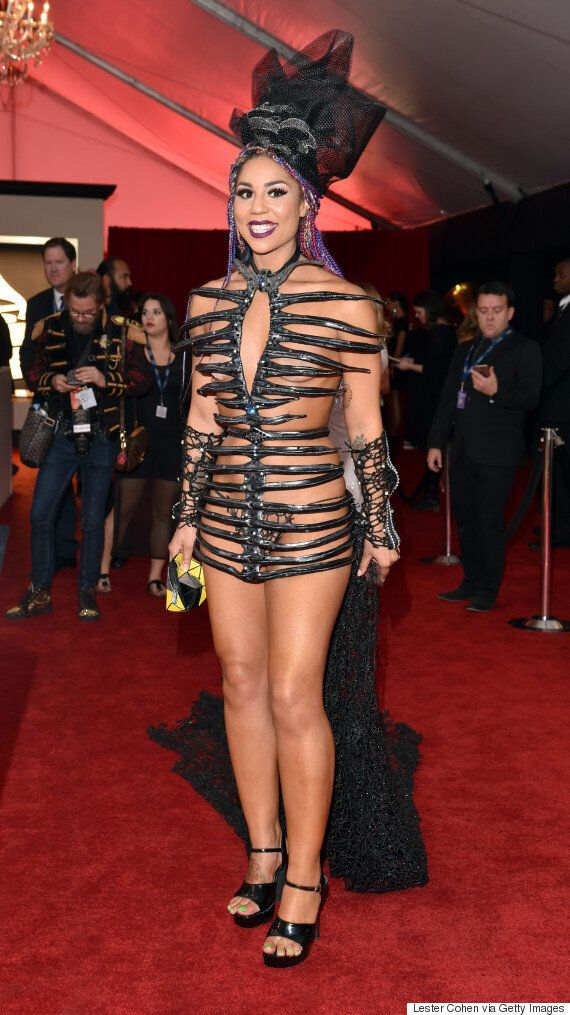 Grammy Awards 2016: Joy Villa Provides This Year's 'WTF?' Moment On The Red Carpet With This Bizarre