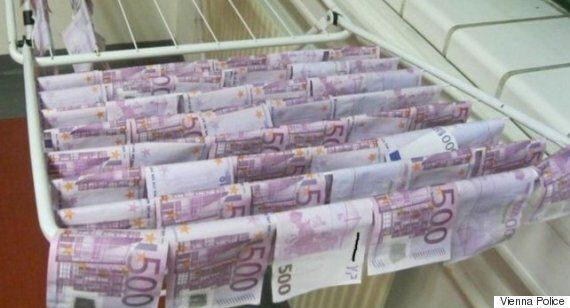 Thousands Of Euro Notes Found In River Danube And Police Are