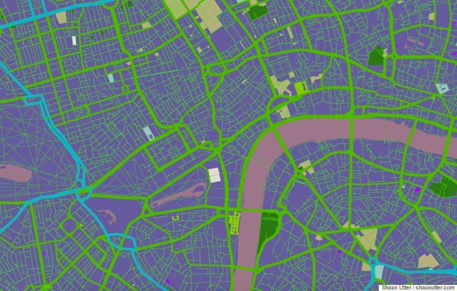 Google Maps Turned Into Cool Generative Art By Boston-Based