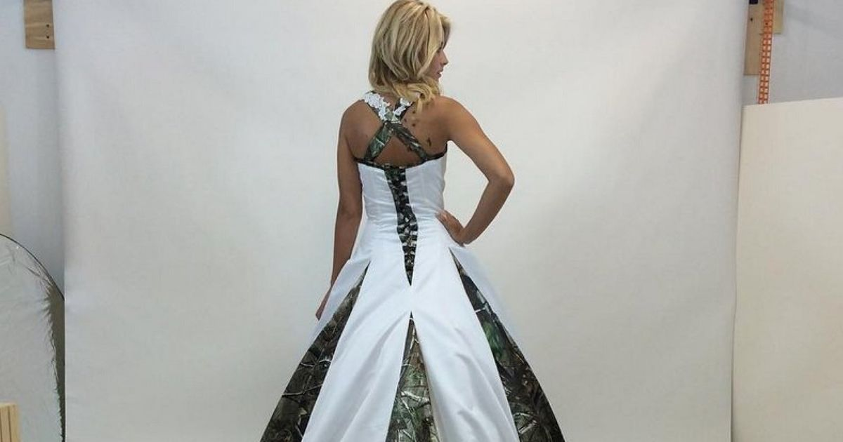 b3e2818ef63a7 Camouflage Wedding Dresses Are The Latest (And Weirdest) Bridal Trend |  HuffPost UK
