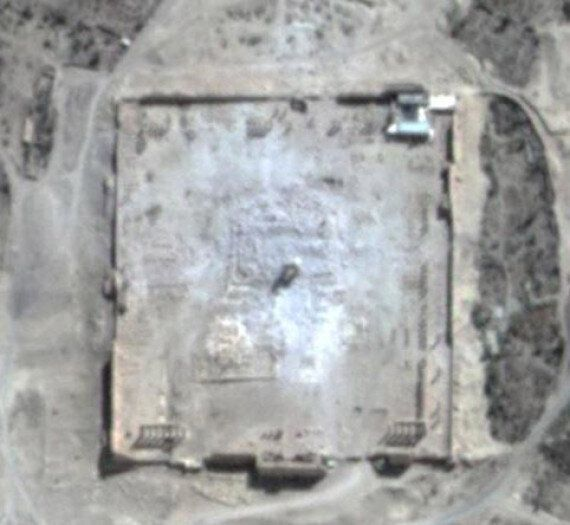 Palmyra Temple Of Bel Satellite Image Confirms Site Obliterated By 'Murderous, Tasteless'