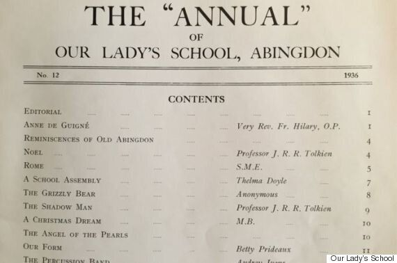 JRR Tolkien Poems Found In Obscure Oxfordshire School Newspaper From