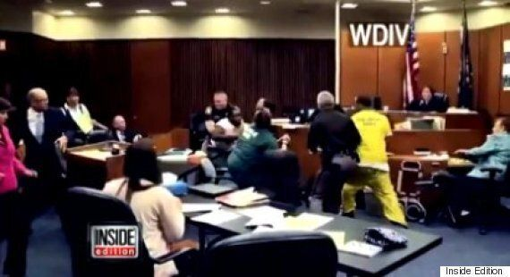 Father Attacks His 3-Year-Old Daughter's Killer In Courtroom