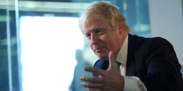Boris Johnson, mayor of London, speaks during a Bloomberg Television interview in