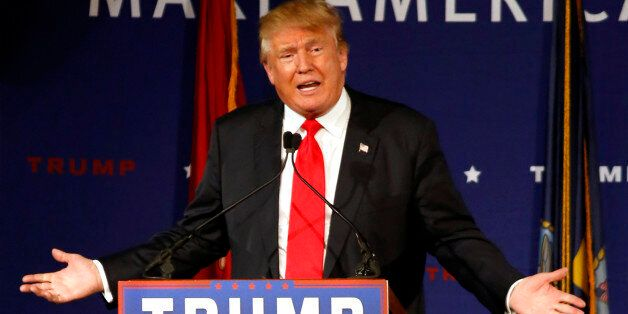 FILE - In this Dec. 7, 2015 file photo, Republican presidential candidate, businessman Donald Trump speaks...