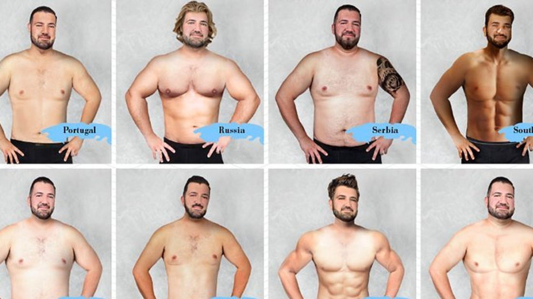 Body Image Project Reveals What The 'Ideal Men's Body' Looks Like Around The World