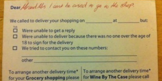 Tesco Delivery Driver Leaves Note To Disabled Mother