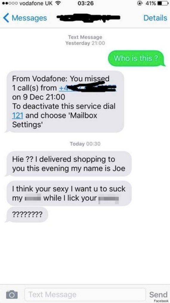 Tesco Delivery Driver Sends Horrifically Obscene Text To Student After He Dropped Off Her