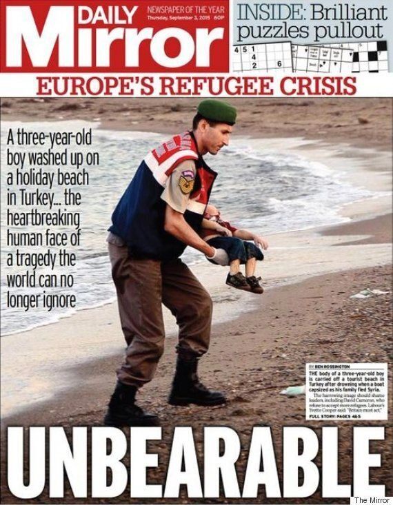 Drowned Syrian Toddler Photo Inspires Graphic, Bold Front Pages On Europe's Refugee
