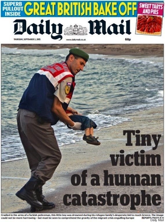 Migrant Crisis: Daily Mail And The Sun Blasted For 'Sheer Hypocrisy' Over Drowned Aylan Kurdi Front