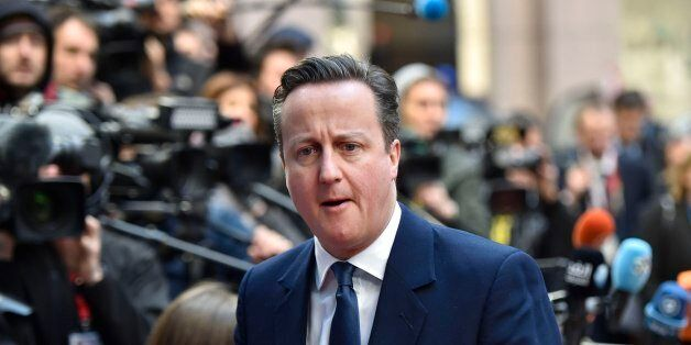 David Cameron arrives for the EU summit this