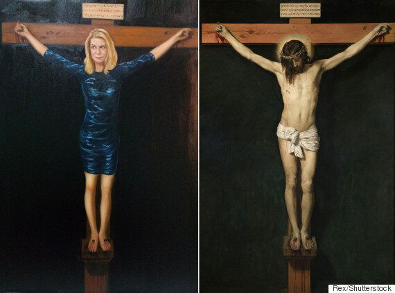 Painting Of Katie Hopkins Being Crucified Will Raise Money For Syrian