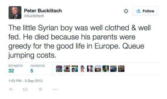 Ukip Parliamentary Candidate, Peter Bucklitsch, Says Drowned Toddler Aylan Kurdi Is 'Queue Jump