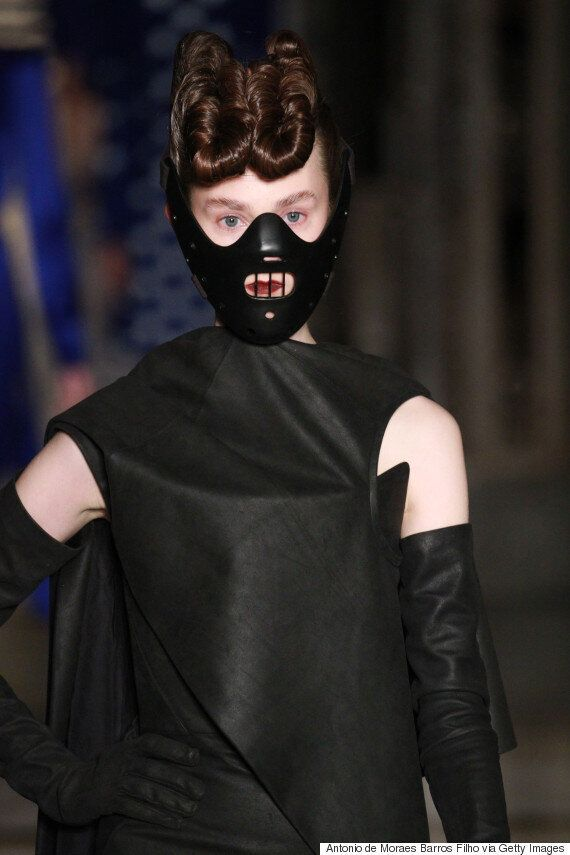 London Fashion Week 2016: Gareth Pugh Makes Models Wear Hannibal Lecter