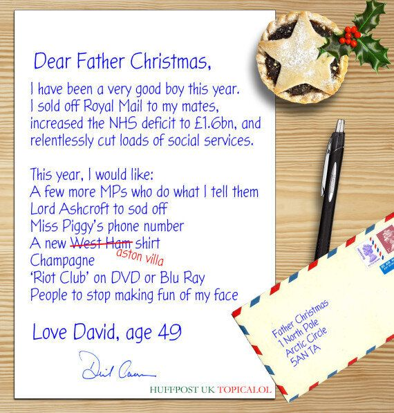 David Cameron's Letter To Father Christmas