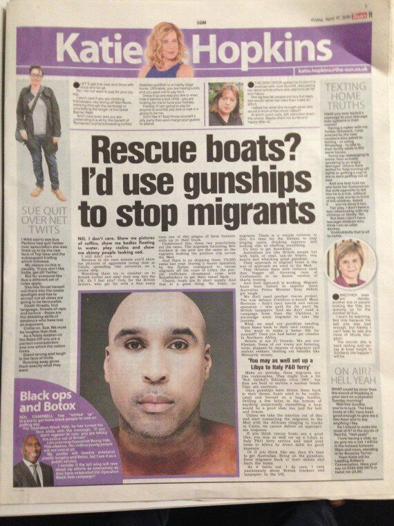 Katie Hopkins Silent On 'Cockroach Migrants' As The Sun Launches Crisis Campaign For