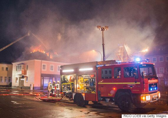 Germany Migrant Shelter Fire: Anti-Refugee Crowd 'Cheered' As Former Hotel Burned In Possible