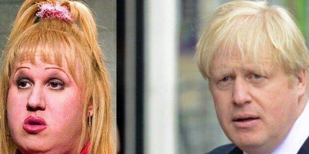 Mayor of London Boris Johnson speaks to the media outside his home in Islington, London, where he said...