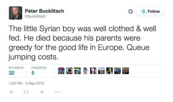 Former Ukip Candidate Peter Bucklitsch Apologises For 'Inelegant' Comments About Drowned Syrian