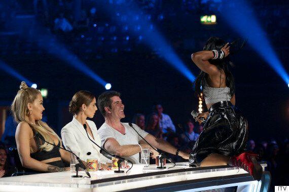 'X Factor' 2015 Contestant Bupsi Gives Simon Cowell A Lapdance During Audition, While Girlband Alien...