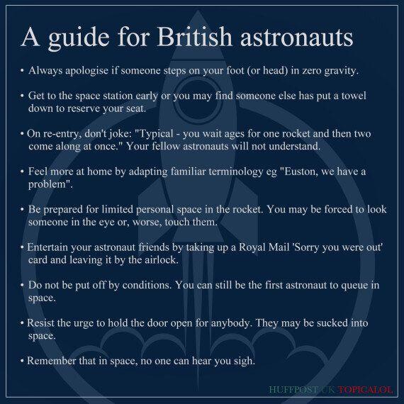 Tim Peake's Guide For British Astronauts
