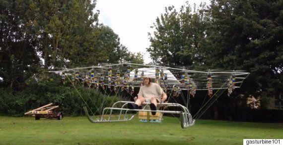 'Swarm Man' Modified Drone Takes Flight Via Counter-Rotation