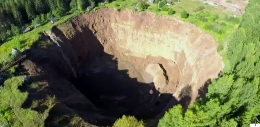 Russian Sinkhole Near Solikamsk Is Growing Wider And Deeper
