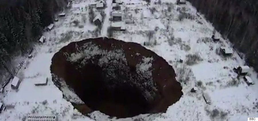 Russian Sinkhole Near Solikamsk Is Growing Wider And