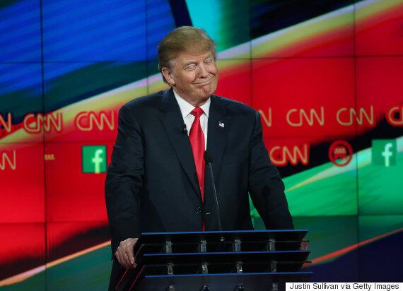 Donald Trump's Face Wins The Last Republican Presidential Debate Of 2015 In Las