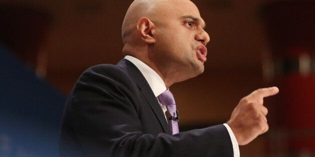Sajid Javid MP during the Conservative Party Conference 2014, at The ICC
