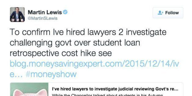 MoneySavingExpert Boss Martin Lewis Has Hired Lawyers To Investigate Government Changes To Student