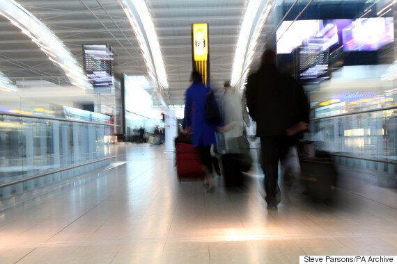 Heathrow Man 'Stabs Himself In The Head', Taken To
