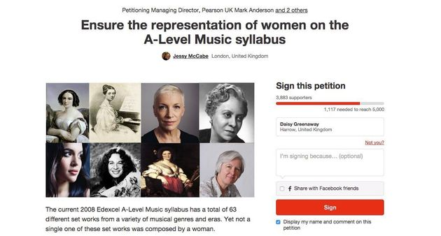 A-Level Music Syllabus To Include Female Composers Following Teenager's