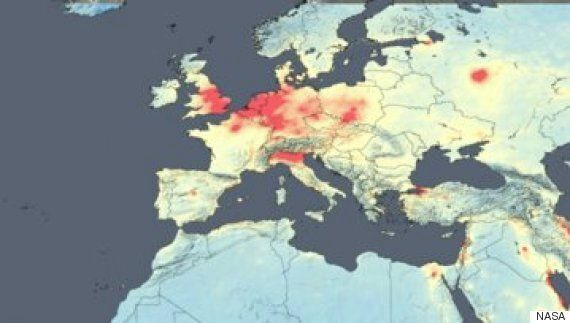 NASA Satellite Images Reveal The Most Polluted Countries In The