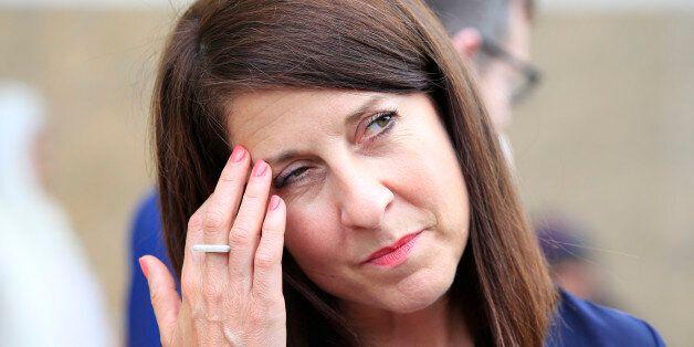 Labour leadership contender Liz Kendall visits the Gurdwara Sri Guru Singh Sabha Southall, west London....